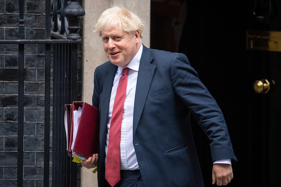 Prime Minister Boris Johnson departs 10 Downing Street, Westminster, London, to attend Prime Minister's Questions at the Houses of Parliament, the first after the summer recess.