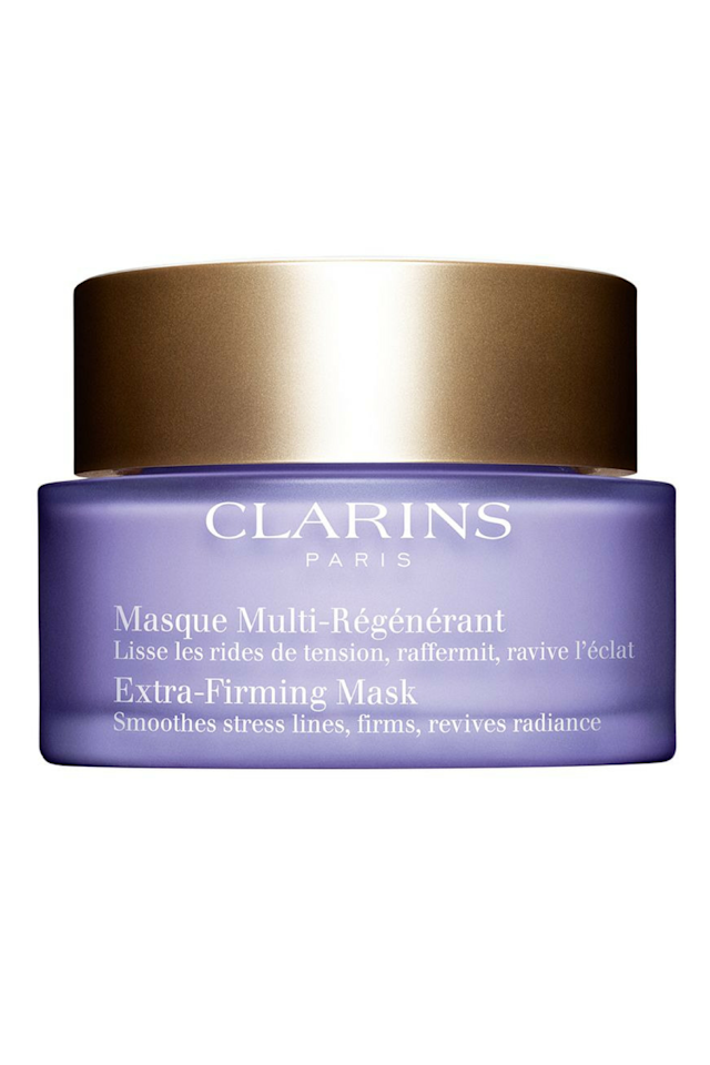 "<p>Softens fine lines with skin-tightening palmitoyl glycine, jojoba oil, and hyaluronic acid. ($75; <a rel=""nofollow"" href=""http://www.ulta.com/extra-firming-mask?productId=xlsImpprod14631093"">ulta.com</a>)</p><p><br></p><p><strong>RELATED: <a rel=""nofollow"" href=""http://www.redbookmag.com/beauty/how-to/g3695/diy-homemade-beauty-products/"">7 Revitalizing Beauty DIYs You Can Do On the Fly</a><span><a rel=""nofollow"" href=""http://www.redbookmag.com/beauty/how-to/g3695/diy-homemade-beauty-products/""></a></span></strong><br></p>"