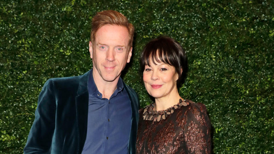 Damian Lewis and Helen McCrory arrive at a Bafta party on February 1, 2020. (Photo by David M. Benett/Getty Images)