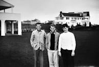 <p>Teenage John, Robert, and Ted Kennedy at their family home in Hyannis Port. </p>