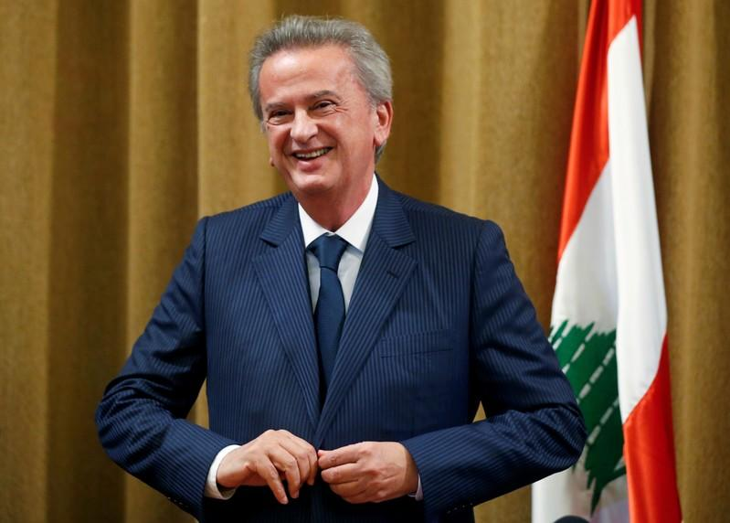 FILE PHOTO: Lebanon's Central Bank Governor Riad Salameh reacts after a news conference at Central Bank in Beirut