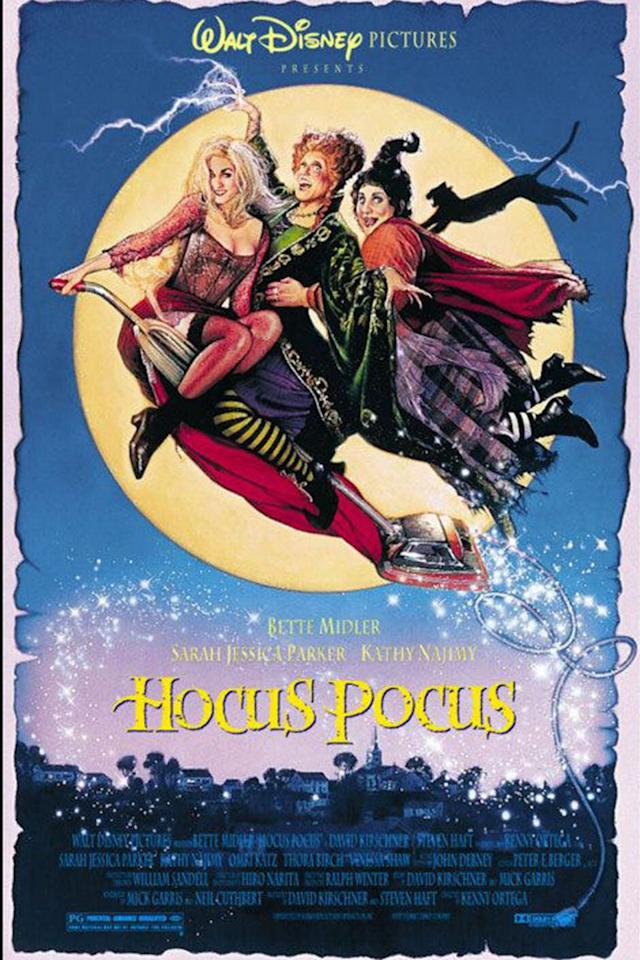 "<p><a rel=""nofollow"" href=""https://www.amazon.com/Hocus-Pocus-Bette-Midler/dp/B004JMY312/ref=sr_1_1"">STREAM NOW</a></p><p>The Sanderson Sisters <a rel=""nofollow"" href=""https://www.womansday.com/life/entertainment/g3274/hocus-pocus-facts/"">never fail to entertain the family</a>. On the night of Halloween, it's up to three children and a magical cat to stop three resurrected witch sisters (Sarah Jessica Parker, Bette Midler, and Kathy Najimy) from wrecking havoc in Salem</p>"