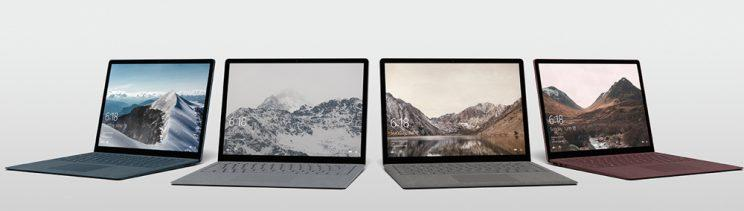 Microsoft Surface Laptops.