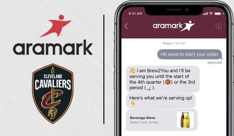 Cleveland Cavaliers & Aramark Launch Mobile Ordering, Using iPhone Messages App, at Quicken Loans Arena