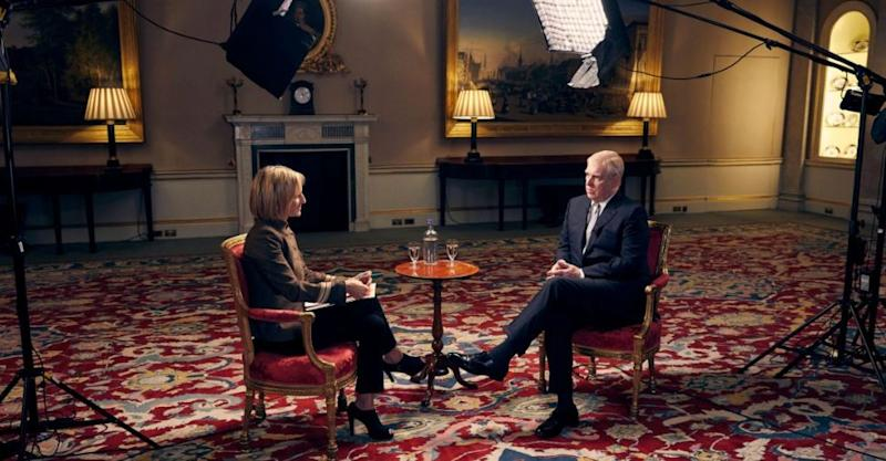The Duke of York was interviewed by the BBC's Emily Maitlis.  (Photo: BBC)
