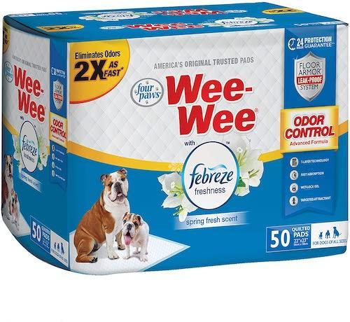 Wee-Wee Puppy Training Pee Pads With Febreze