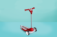 """<p>On any sunny day, kids take to their scooters and hit the road! And while we love that scooters help develop gross motor skills, develop balance, strengthen muscles and are more compact than trikes or bikes, we also want to make sure that we're putting them on the best equipment out there. The <a href=""""https://www.goodhousekeeping.com/institute/"""" rel=""""nofollow noopener"""" target=""""_blank"""" data-ylk=""""slk:Good Housekeeping Institute"""" class=""""link rapid-noclick-resp"""">Good Housekeeping Institute</a> Little Lab tested kid scooters, from models for toddlers all the way up to teens, and found the best scooters for kids in 2021. </p><h2 class=""""body-h2"""">How We Evaluated Scooters</h2><p>The GH Institute looked at several factors during its tests. After checking to make sure the materials were durable and well constructed, we looked at the ease of assembly. (Does it come fully assembled? Does it require tools?) We also checked the weight for portability, and also how convenient they are to store and carry. Then, we looked at how they ride: How smooth is the ride over bumpy terrain? How easy is it to steer and turn? How simple is it to brake? And finally, we also had young riders between the ages of 1 and 9 weigh in with their own thoughts — because it has to be fun! </p><h2 class=""""body-h2"""">What to Look For When You're Buying a Scooter</h2><p>While all of these scooters for kids passed our tests, there are some things to consider when figuring out which one is right for your family.</p><p><strong>Your child's size:</strong> It's important to check the recommended age range, weight limit and height specifications outlined by the manufacturer.</p><p><strong>Adjustability:</strong> Are you looking for a scooter just for now, or one that will grow with your child over time? Many scooters have the ability to adjust the height, and some even start as ride-on toys for toddlers before transitioning to a big-kid scooter. A scooter that last through several growth stages might be a better """