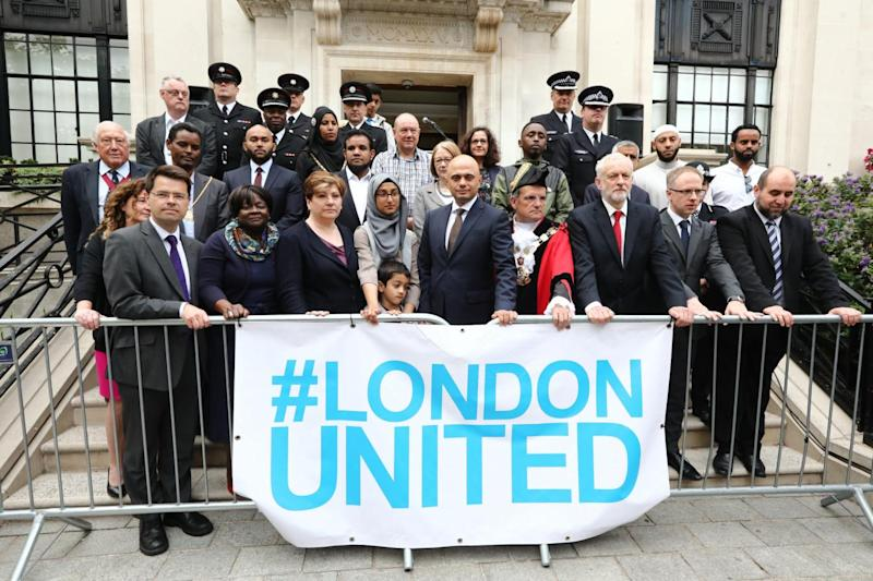 Politicians and faith leaders called on Londoners to unite against terror (Alex Lentati)