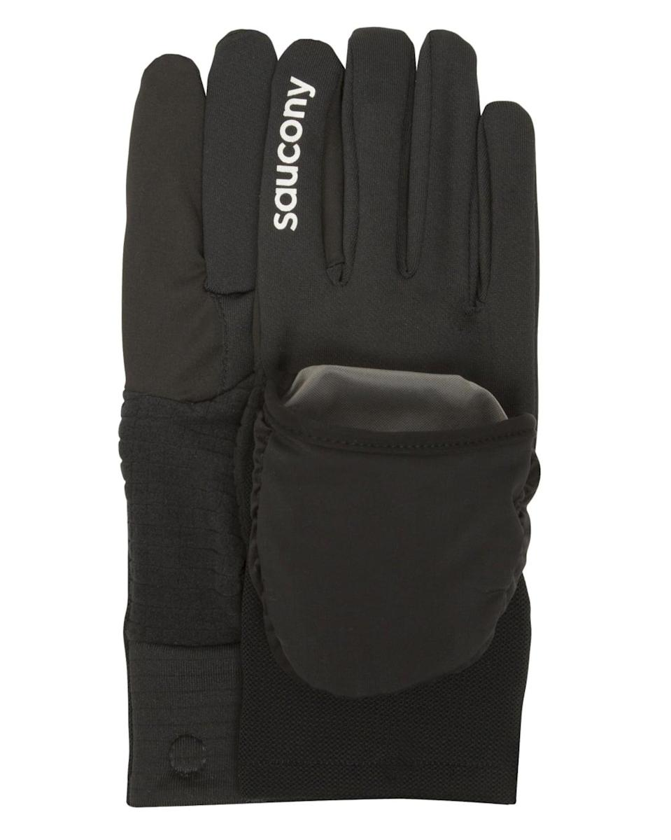 <p>A pair of gloves with a mitten attachment, like these <span>Saucony Ulti-Mitt gloves</span> ($35), adds an extra layer of warmth.</p>
