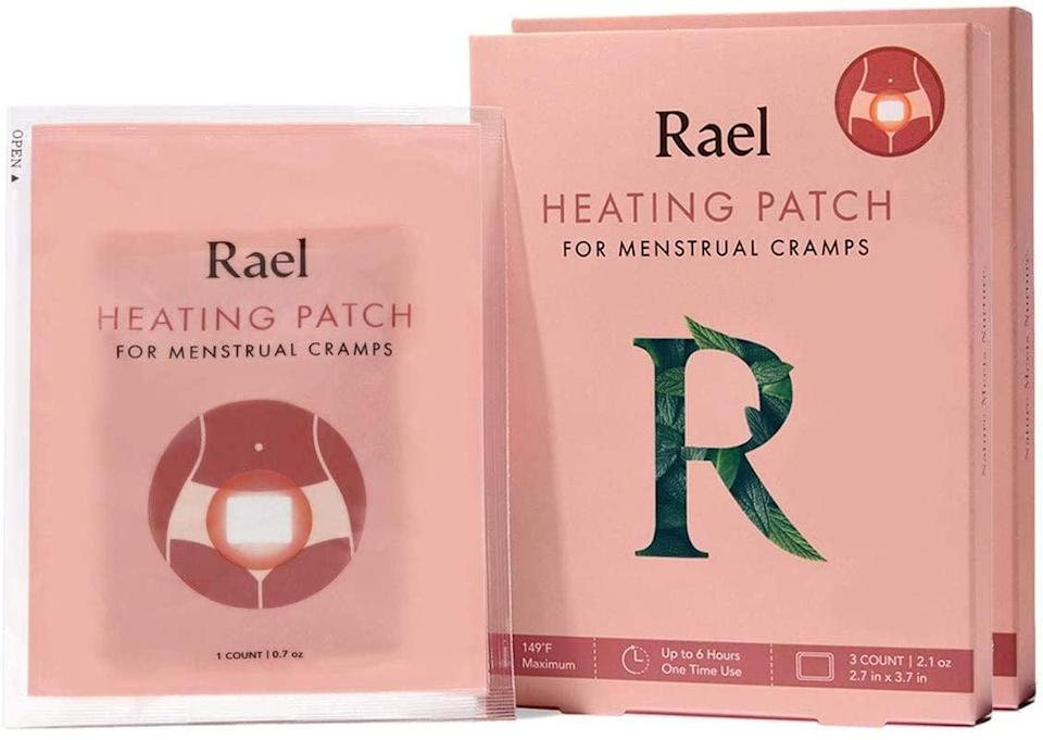 <p>The <span>Rael Natural Herbal Heating Patches</span> ($12 for six patches) provide heated comfort for up to six hours and are filled with herbal ingredients, such as jasmine, rosehip, and dandelion root, to soothe discomfort and help reduce bloating. The patches' square shape make them ideal for placing on the front of underwear or on the back.</p>
