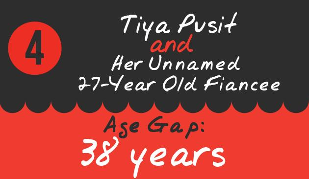 4. Tiya Pusit and Her Unnamed 27-Year Old Fiancee, Age Gap: 38 years
