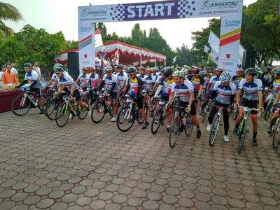 Krakatau Granfondo's Cyclers are ready to conquer Mount Karang to sunny beaches of Banten Province