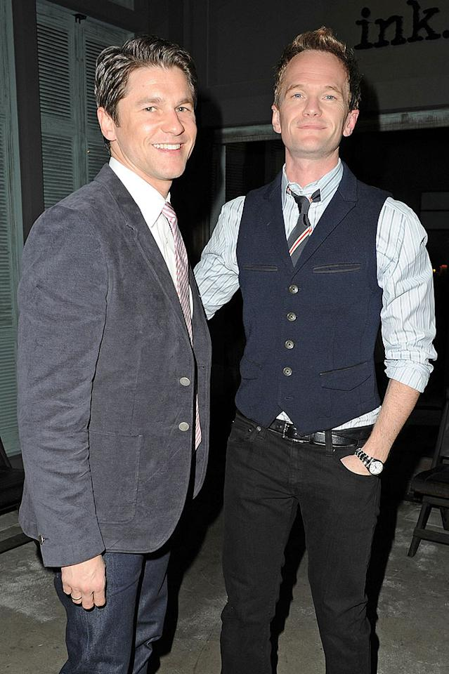"Fathers of twins, Neil Patrick Harris and David Butka, enjoyed a quiet night out at Ink restaurant in West Hollywood. Earlier in the day, the ""How I Met Your Mother"" star tweeted a special message to his followers: ""Hope your day is filled with love, or at the very least a good shagging."" (2/14/2012)"
