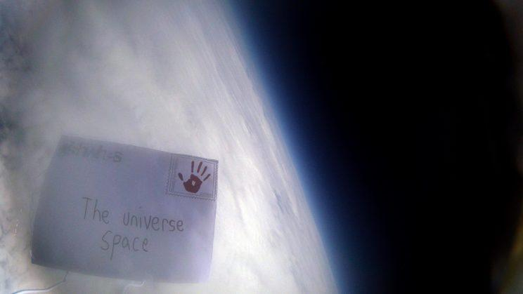 The letter really did get delivered to the universe.
