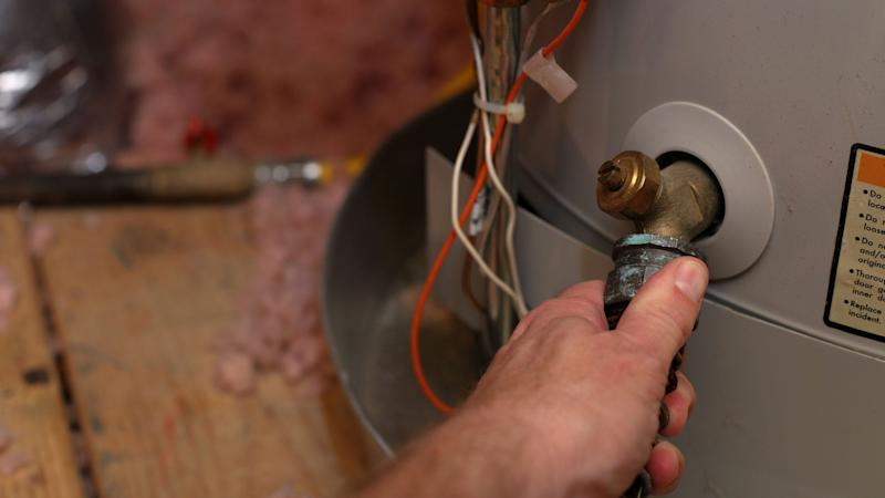 Flushing your hot water heater can be time-intensive. Using a descaler to thoroughly clean out the tank can help reduce how often you'll need this maintenance.