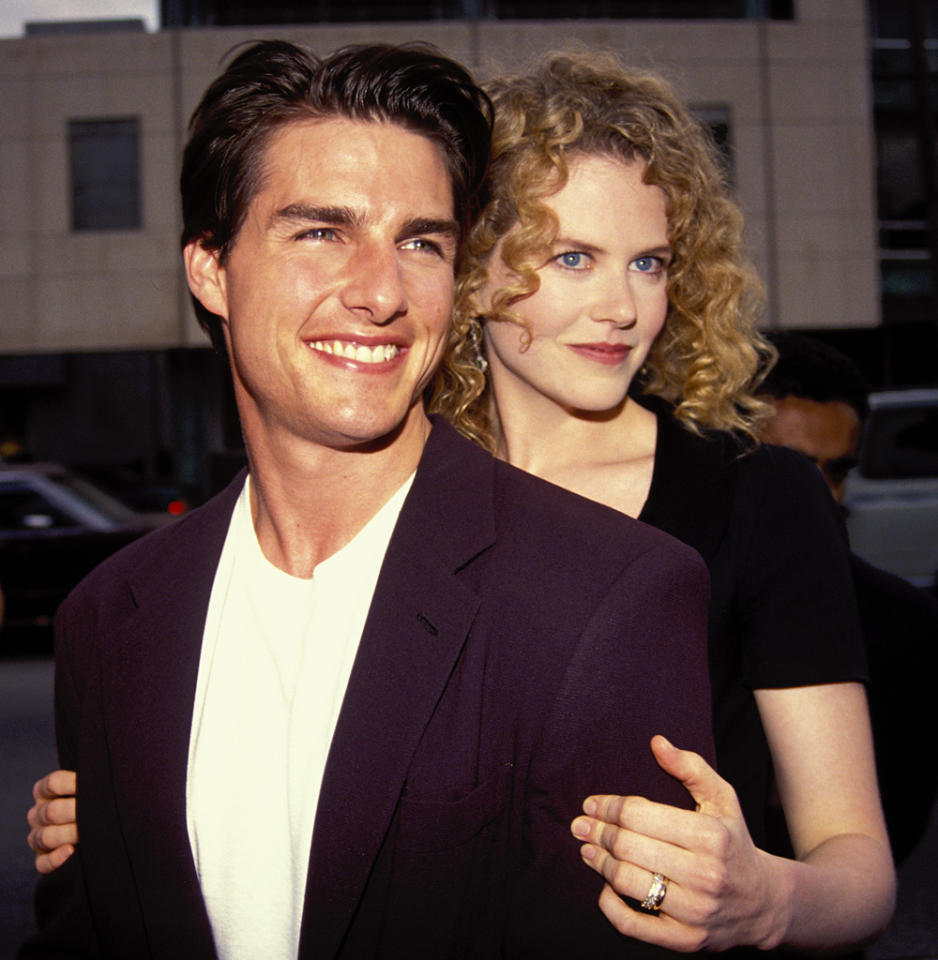 UNITED STATES - APRIL 25:  Tom Cruise and Nicole Kidman in Los Angeles 1992  (Photo by Vinnie Zuffante/Getty Images)