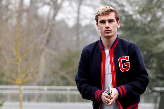 Soccer Football - France Training - Clairefontaine, France - March 19, 2018 France's Antoine Griezmann arrives before training REUTERS/Gonzalo Fuentes