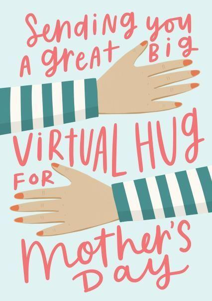 Sending you a great big virtual hug Mother's Day card, Thortful (Photo: Thortful)