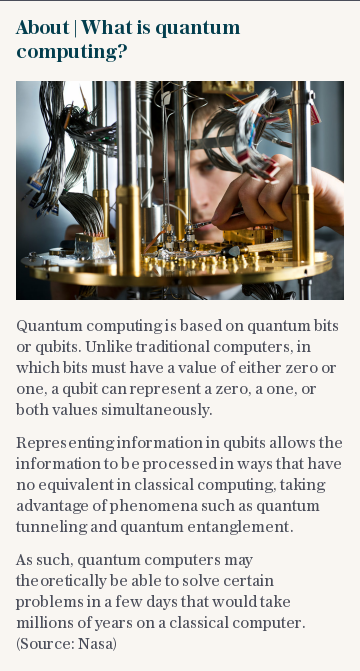 About | What is quantum computing?