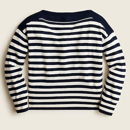 """<p><strong>J.Crew</strong></p><p>jcrew.com</p><p><strong>$128.00</strong></p><p><a href=""""https://go.redirectingat.com?id=74968X1596630&url=https%3A%2F%2Fwww.jcrew.com%2Fp%2FBA370&sref=https%3A%2F%2Fwww.elle.com%2Ffashion%2Fshopping%2Fg27038%2Fbest-fall-sweaters%2F"""" rel=""""nofollow noopener"""" target=""""_blank"""" data-ylk=""""slk:Shop Now"""" class=""""link rapid-noclick-resp"""">Shop Now</a></p><p>A cozy top like this is made for yachting. Or, like, beach keggers. </p>"""
