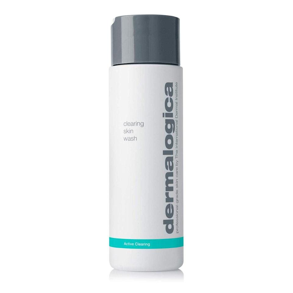 <p>The <span>Dermalogica Clearing Skin Wash</span> ($39), formulated with salicylic acid, fights breakouts before they happen. What's more, green tea in the cleanser helps calm irritation and menthol provides your skin with a cooling sensation.</p>