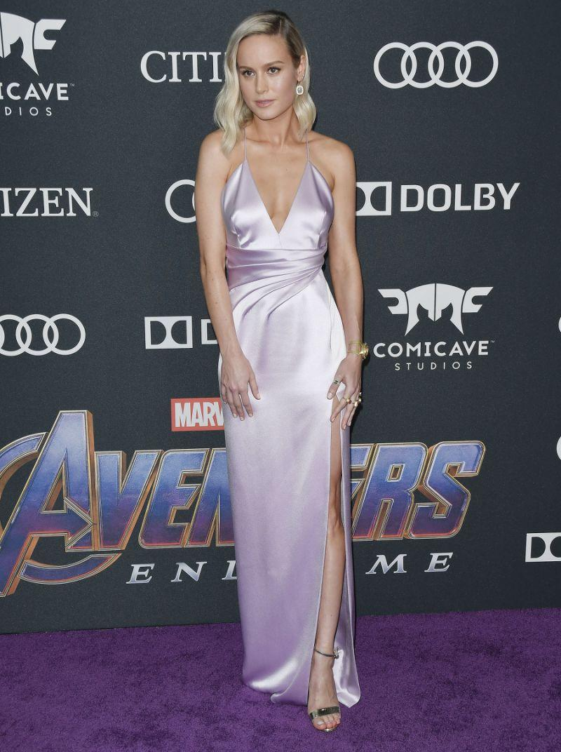 Brie Larson in custom-made Celine. [Photo: PA]
