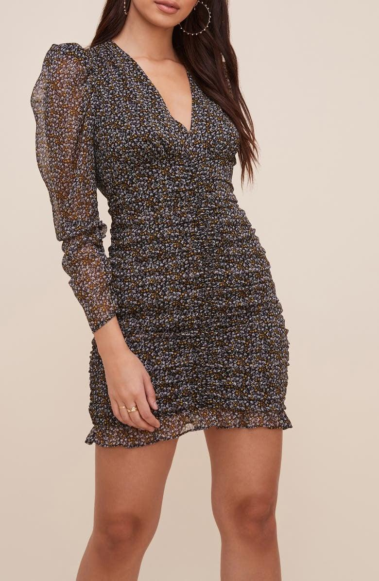 <p><span>ASTR the Label Ruched Long Sleeve Minidress</span> ($38, originally $85)</p>