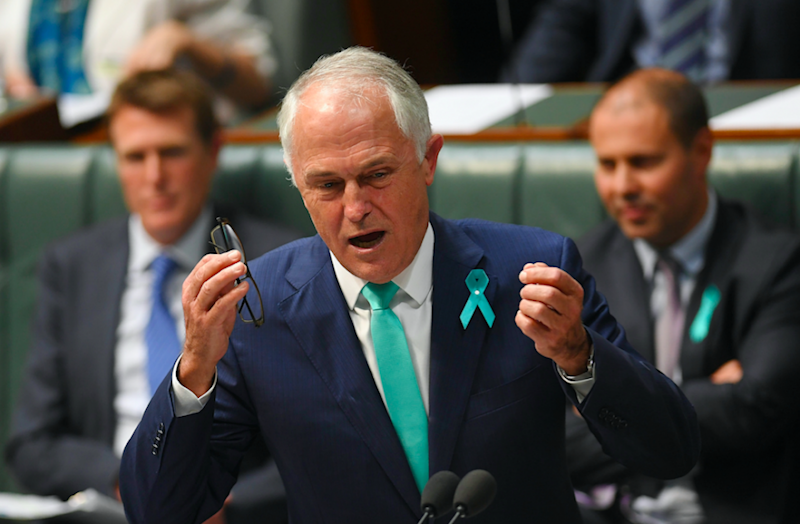 Turnbull's heated response resulted in cheers and applause from Liberal benches. Photo: AAP.