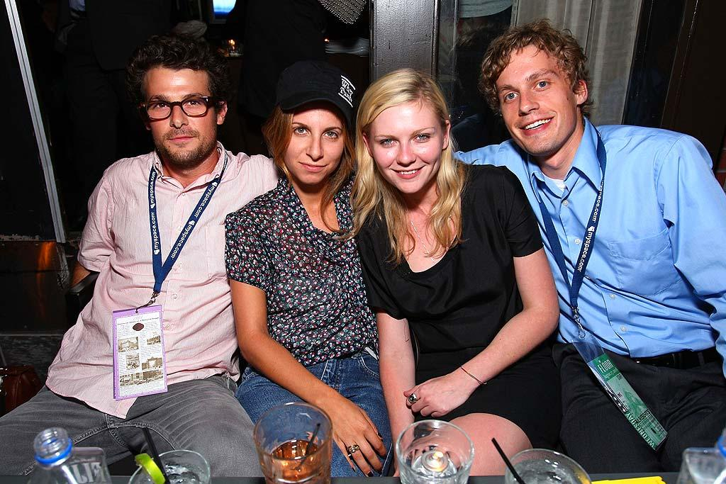 "Kirsten Dunst poses with a few filmmaker friends. John Shearer/<a href=""http://www.wireimage.com"" target=""new"">WireImage.com</a> - August 27, 2008"