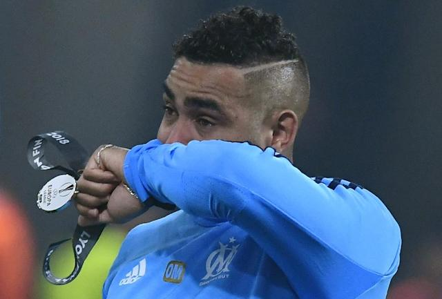 Marseille captain Dimitri Payet hobbled off injured in the first half as his side lost the Europa League final to Atletico Madrid on Wednesday (AFP Photo/Boris HORVAT )
