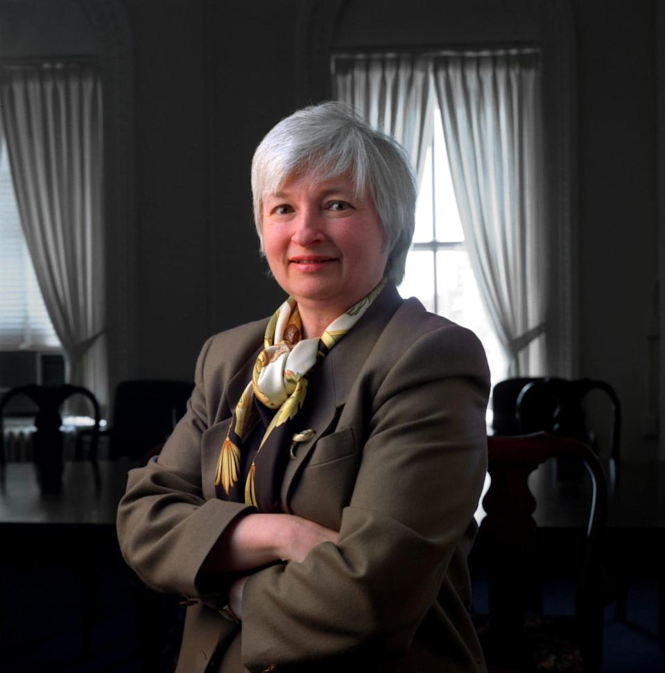 April 1997 USA TODAY portrait of Janet Yellen, Chair of the President's Council of Economic Advisors.