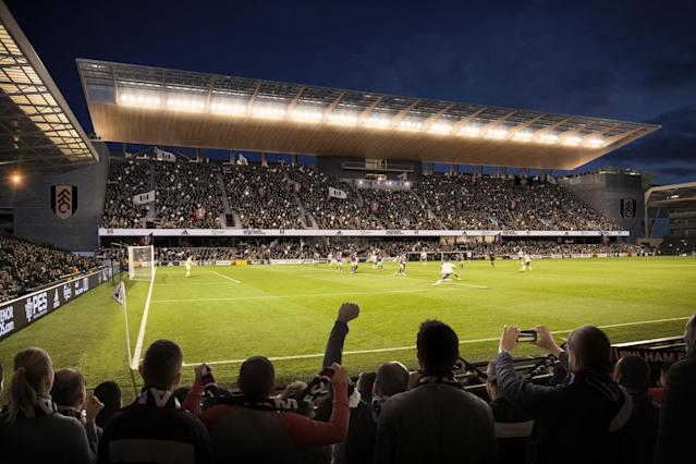 Fulham's new £80m stand will increase Craven Cottage capacity to 29,600