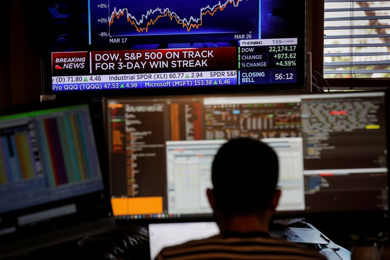 Stocks surge again after relief bill passes Senate; indexes up 6%