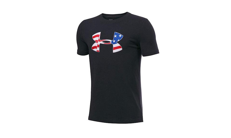 """<p>Under Armour is one of the biggest American athletic apparel, shoe, and accessory companies. It was founded in 1996 by 23-year old Kevin Plank. At first, he worked out of his grandmother's Washington D.C. basement when he created his first major breakthrough — the HeatGear T-shirt. Today, it is a multi-billion dollar company that manufactures most of its clothing outside the U.S. — in parts of Asia, South America, and Mexico. (Photo: <a href=""""https://www.kohls.com/product/prd-2721959/boys-8-20-under-armour-american-logo-tee.jsp?color=Black%20White&prdPV=35"""" rel=""""nofollow noopener"""" target=""""_blank"""" data-ylk=""""slk:Under Armour/Kohl's"""" class=""""link rapid-noclick-resp"""">Under Armour/Kohl's</a>) </p>"""