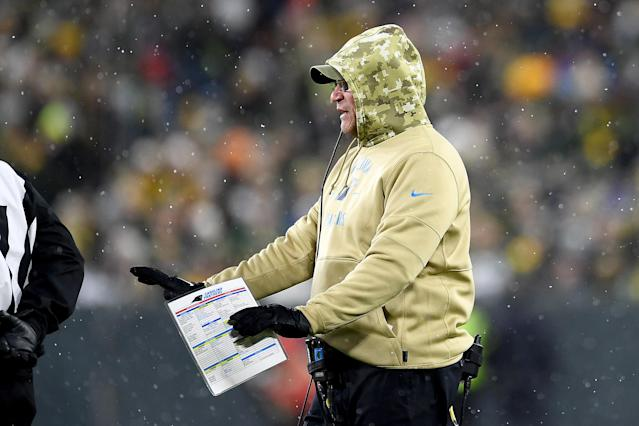 Panthers head coach Ron Rivera made a fascinating call against the Green Bay Packers —and ultimately the right one at the time. (Photo by Stacy Revere/Getty Images)