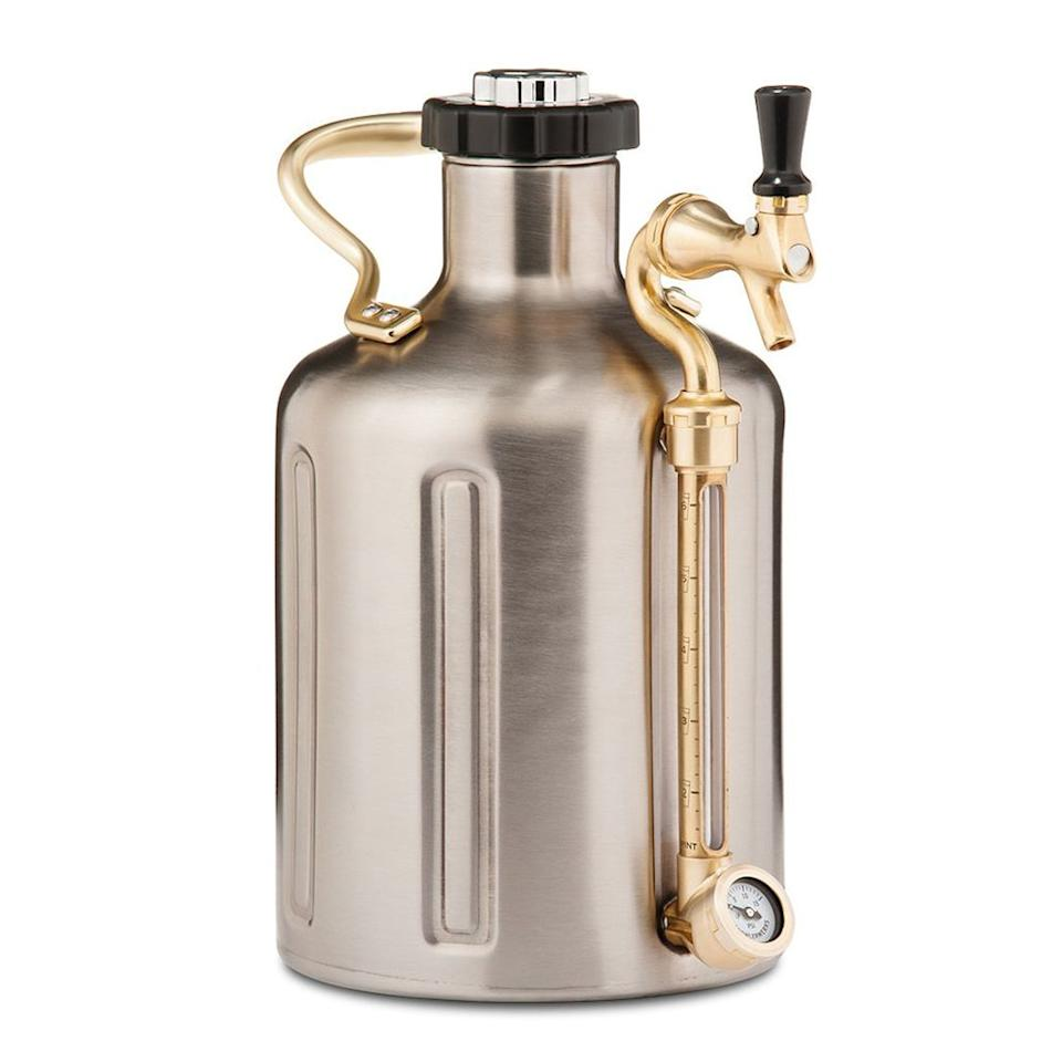 "<p><strong>GrowlerWerks</strong></p><p>amazon.com</p><p><strong>$199.00</strong></p><p><a href=""http://www.amazon.com/dp/B01N0H04X8/?tag=syn-yahoo-20&ascsubtag=%5Bartid%7C2089.g.1604%5Bsrc%7Cyahoo-us"" target=""_blank"">Shop Now</a></p><p>This sleek stainless steel pressurized growler will keep a gallon of your favorite beer fresh and carbonated for the whole game. If you're a <a href=""https://www.bestproducts.com/eats/drinks/g3244/best-beer-gifts/"" target=""_blank"">serious craft-beer lover</a> <em>and</em> you also love to tailgate, this is one of the most practical items you can have on-hand.</p>"