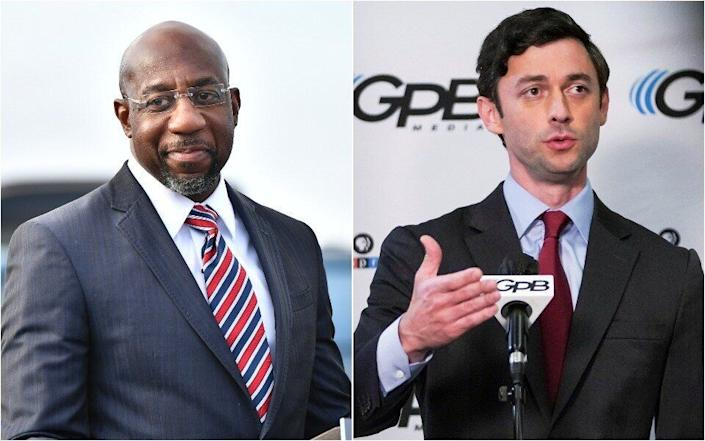 Rev. Raphael Warnock (left) and Jon Ossoff are the two Democratic candidates for Georgia's Senate seats. Their victories in the Jan. 5 runoff would flip the Senate for Democrats. (Photo: Getty Images)
