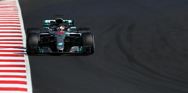Motor Racing - F1 Formula One - Formula One Test Session - Circuit de Barcelona-Catalunya, Montmelo, Spain - March 9, 2018 - Lewis Hamilton of Mercedes during testing. Picture taken March 9, 2018. REUTERS/Albert Gea
