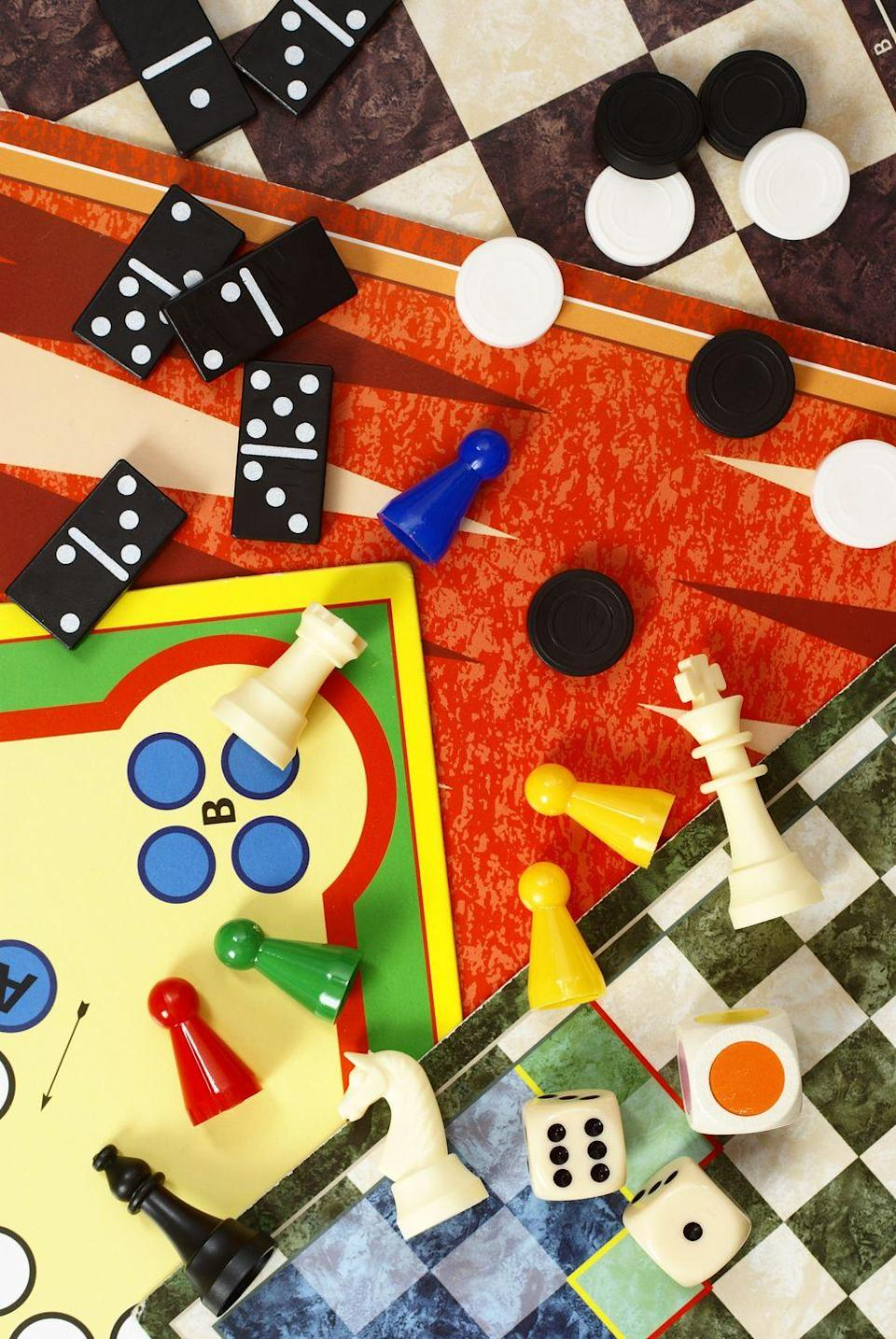 """<p>What's the quickest way to beat boredom? A treasure trove of <a href=""""https://www.oprahmag.com/life/g28436280/games-to-play-with-friends/"""" rel=""""nofollow noopener"""" target=""""_blank"""" data-ylk=""""slk:fun games"""" class=""""link rapid-noclick-resp"""">fun games</a> that'll have the whole family laughing in no time. </p><p><a class=""""link rapid-noclick-resp"""" href=""""https://www.amazon.com/dp/B01A7U245Q?linkCode=xm2&tag=syn-yahoo-20&ascsubtag=%5Bartid%7C10072.g.31703166%5Bsrc%7Cyahoo-us"""" rel=""""nofollow noopener"""" target=""""_blank"""" data-ylk=""""slk:SHOP GAMES"""">SHOP GAMES</a></p>"""