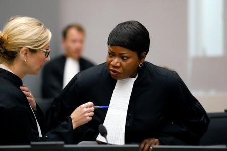 FILE PHOTO: Public Prosecutor Bensouda attends the trial of Congolese warlord Ntaganda at the ICC in the Hague