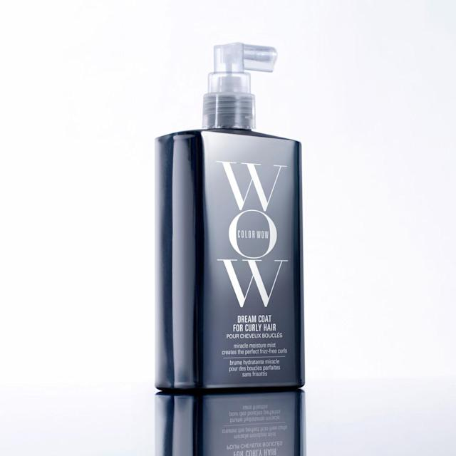 "<p>Right now is the best time to toss your sticky serums and arm yourself with this water-like mist that's like a 3-in-1 curly-hair wonder as it defrizzes and smooths strands, restores bounce to limp locks, and adds a glossy shine. $24, <a href=""https://www.colorwowhair.com/us/dream-coat-curly.html"" rel=""nofollow noopener"" target=""_blank"" data-ylk=""slk:colorwowhair.com"" class=""link rapid-noclick-resp"">colorwowhair.com</a> (Photo: Courtesy of Color Wow) </p>"