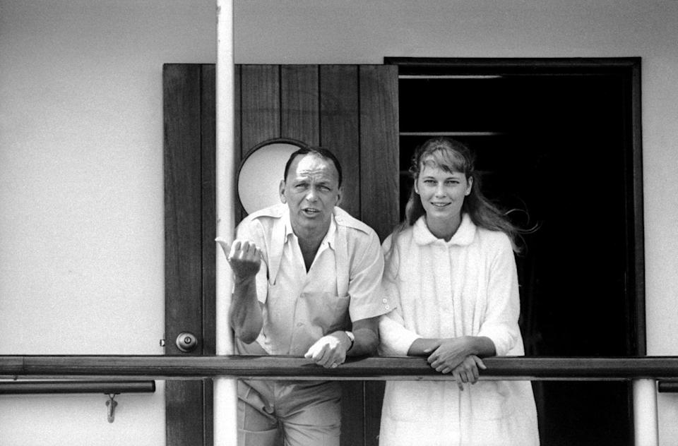 <p>The press flew into a tizzy when Farrow was spotted as a guest on Frank Sinatra's yacht in 1965. The couple made headlines for their wide age gap. At 19, Farrow was almost 30 years younger than 48-year-old Sinatra.</p>