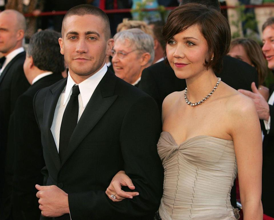 <p><strong>Shaved</strong></p><p>With a shaved head (here at the 2005 Academy Awards), Gyllenhaal's sharp facial features are on display for all to admire. </p>