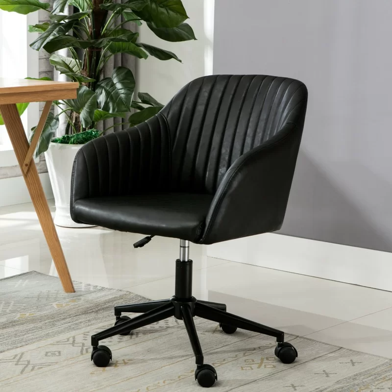 """<h2>Flannigan Task Chair</h2><br><strong>Best For: A Vintage-Inspired Accent</strong><br>This chair has just the right amount of personality. It features a bucket-style seat with swooping armrests and tufted lines. <br><br><strong>The Hype:</strong> 4.6 out of 5 stars and 1152 reviews on <a href=""""https://www.wayfair.com/furniture/pdp/greyleigh-flannigan-task-chair-gryl4233.html"""" rel=""""nofollow noopener"""" target=""""_blank"""" data-ylk=""""slk:Wayfair"""" class=""""link rapid-noclick-resp"""">Wayfair</a><br><br><strong>Comfy Butts Say: </strong>""""This chair is very pretty in person. Comfortable and great quality. It works great for my daily office, I sit at my desk for hours at a time and it hasn't hurt my back. Assembly took less than 5 minutes! Worth it.""""<br><br><br><br><strong>Greyleigh</strong> Flannigan Task Chair, $, available at <a href=""""https://go.skimresources.com/?id=30283X879131&url=https%3A%2F%2Fwww.wayfair.com%2Ffurniture%2Fpdp%2Fgreyleigh-flannigan-task-chair-gryl4233.html"""" rel=""""nofollow noopener"""" target=""""_blank"""" data-ylk=""""slk:Wayfair"""" class=""""link rapid-noclick-resp"""">Wayfair</a>"""