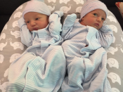 """<p>The actress and her boyfriend, Hamzi Hijazi, have their hands full as they welcomed twin boys into the world. """"They're here!"""" Pressly captioned the adorable photo of her two little ones. """"Introducing our new additions, Leo and Lenon, born October 16th. #DoubleTrouble."""" The twins join big brother Dezi James, 10, to make a party of five.<br>(Photo: <a href=""""https://www.instagram.com/p/BamtdZ3n_f-/?hl=en&taken-by=jaimepressly"""" rel=""""nofollow noopener"""" target=""""_blank"""" data-ylk=""""slk:Jaime Pressly via Instagram"""" class=""""link rapid-noclick-resp"""">Jaime Pressly via Instagram</a>) </p>"""