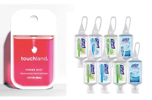 touchland hand sanitizer and purell hand sanitizer