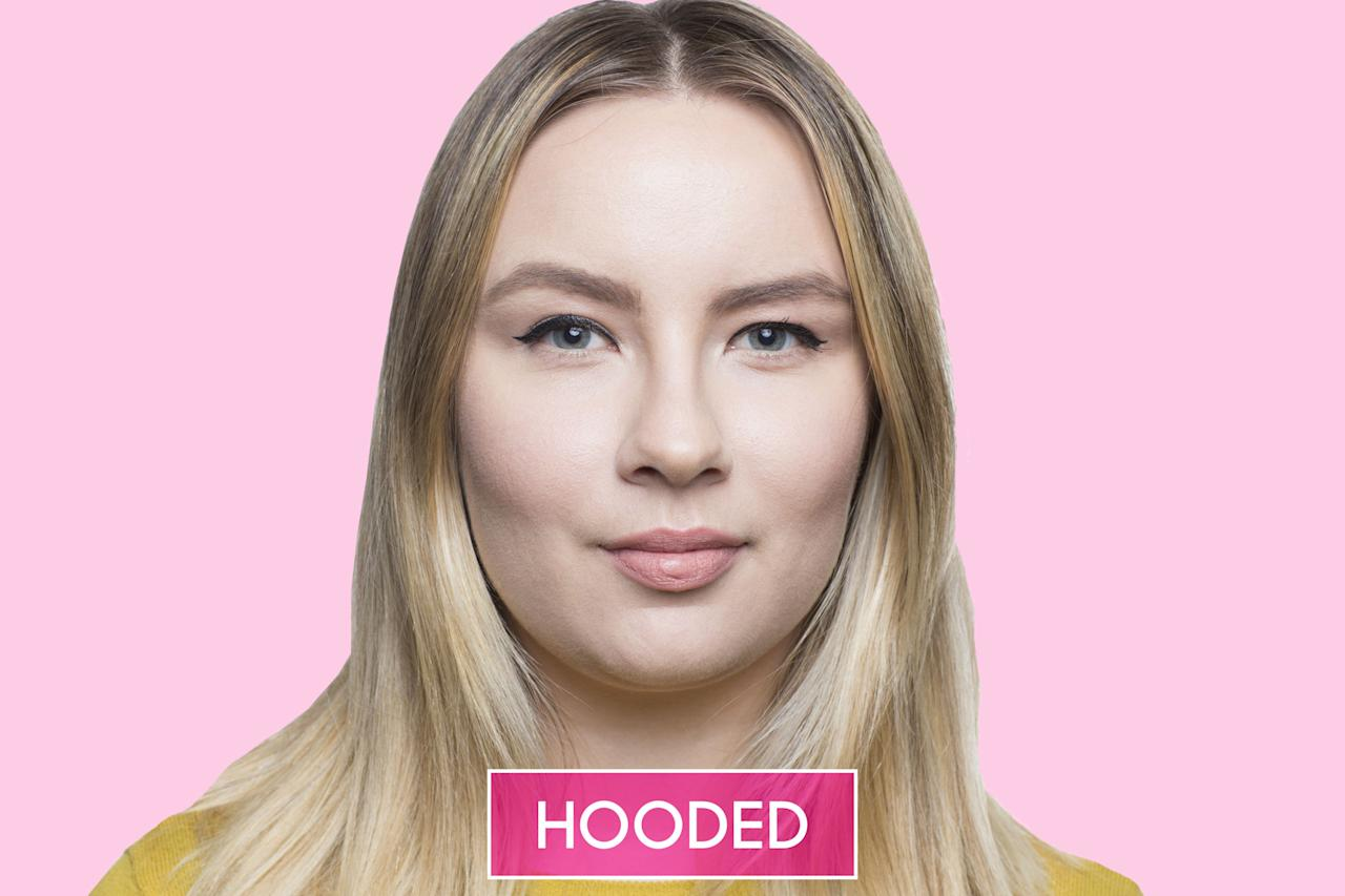 <p>If the crease of your eyelid isn't visible, you likely have hooded eyes.</p>
