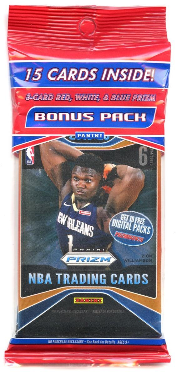 A pack of basketball cards