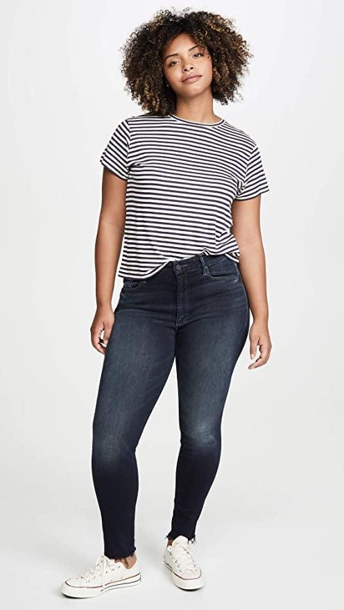 """<p>We want these <a href=""""https://www.popsugar.com/buy/Mother-High-Waisted-Looker-Ankle-Fray-Jeans-583842?p_name=Mother%20High%20Waisted%20Looker%20Ankle%20Fray%20Jeans&retailer=amazon.com&pid=583842&price=179&evar1=fab%3Aus&evar9=47565691&evar98=https%3A%2F%2Fwww.popsugar.com%2Fphoto-gallery%2F47565691%2Fimage%2F47565696%2FMother-High-Waisted-Looker-Ankle-Fray-Jeans&list1=shopping%2Camazon%2Cdenim%2Csale%2Cget%20the%20look%2Cmeghan%20markle%2Csale%20shopping%2Ccelebrity%20style&prop13=api&pdata=1"""" class=""""link rapid-noclick-resp"""" rel=""""nofollow noopener"""" target=""""_blank"""" data-ylk=""""slk:Mother High Waisted Looker Ankle Fray Jeans"""">Mother High Waisted Looker Ankle Fray Jeans</a> ($179, originally $238) ASAP.</p>"""