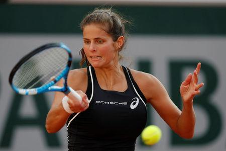 Tennis - French Open - Roland Garros, Paris, France - June 2, 2018 Germany's Julia Goerges in action during her third round match against Serena Williams of the U.S. REUTERS/Gonzalo Fuentes